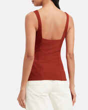 Alloy Ribbed Tank Top, RED, hi-res