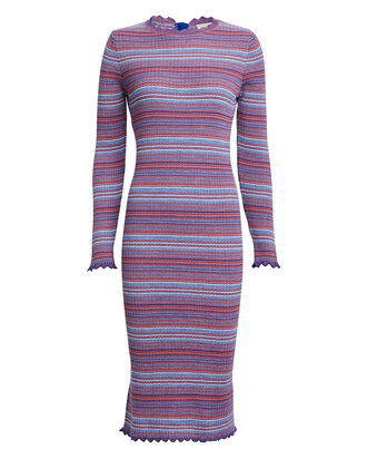 Tinita Striped Rib Knit Dress, RED/BLUE STRIPE, hi-res