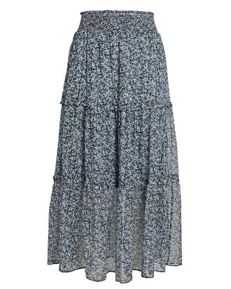 Anastasiya Tiered Midi Skirt, MULTI, hi-res