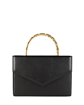 Pernille Leather Box Bag, BLACK, hi-res