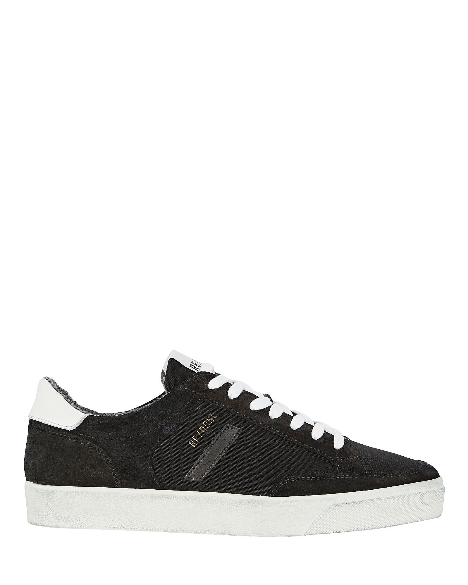 90s Suede Skate Sneakers, BLACK, hi-res