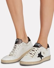 Ball Star Low Top Sneakers, WHITE, hi-res