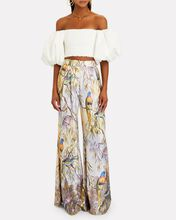 Candescent Silk Wide-Leg Trousers, LIGHT PURPLE, hi-res