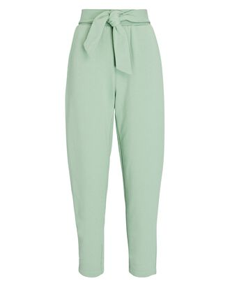 Lulu Tie-Waist Sweatpants, GREEN, hi-res