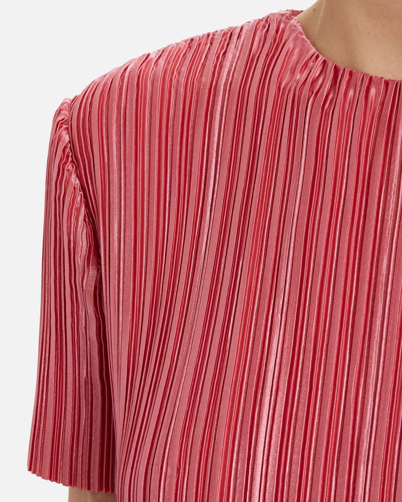 Pleated Crop Top, PINK, hi-res