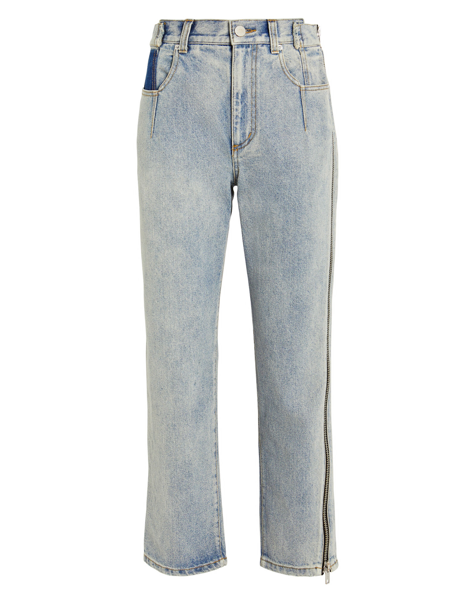 Zipper Seam Jeans, DENIM-LT, hi-res