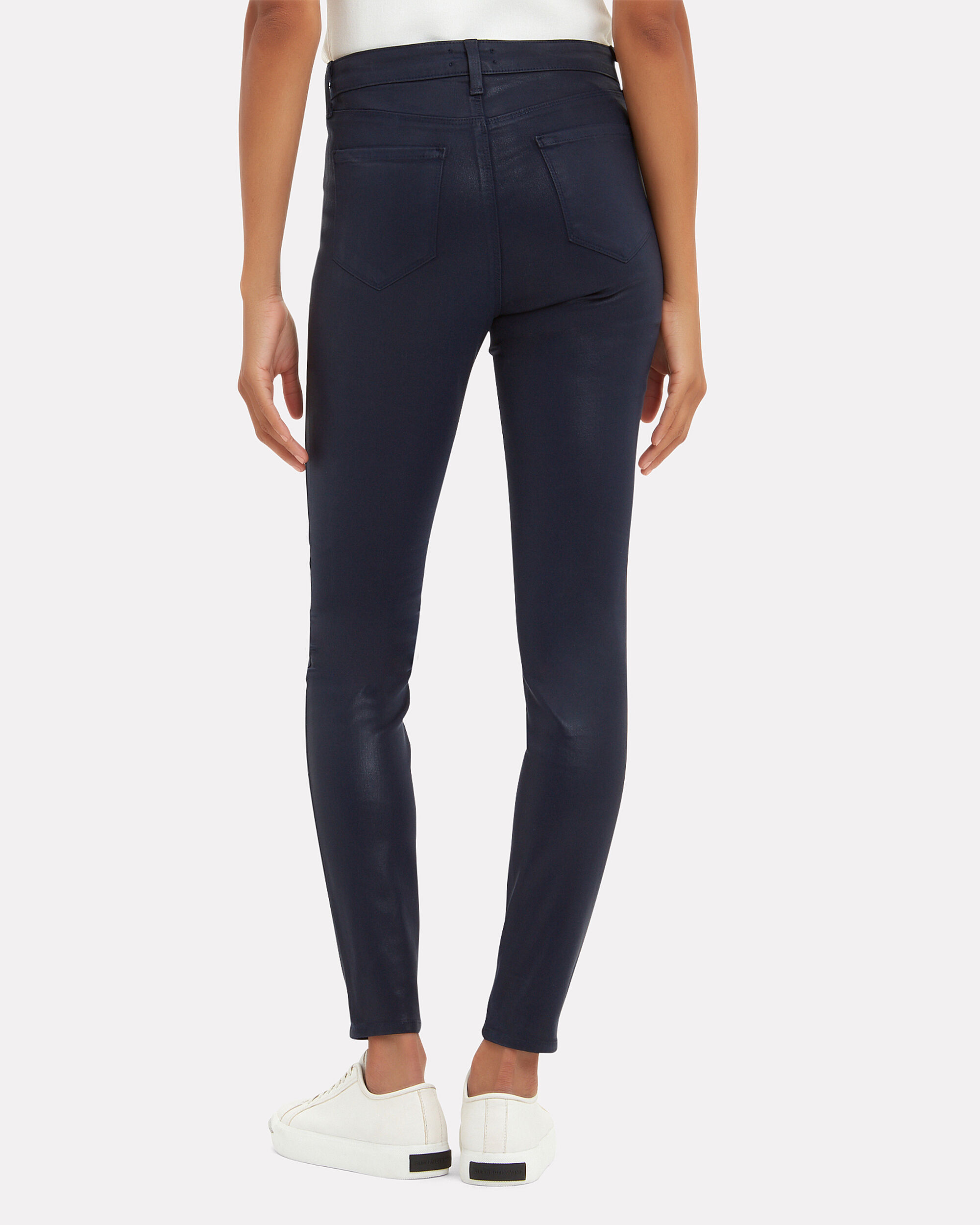 Marguerite Coated Jeans, NAVY, hi-res