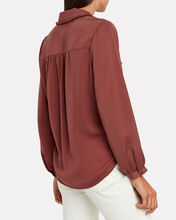 Finn Frayed Satin Blouse, RED-DRK, hi-res