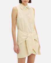 Tie Waist Shirt Dress, YELLOW, hi-res