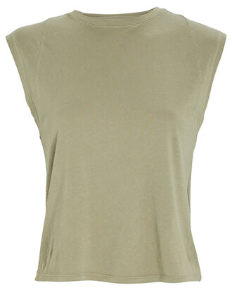 Le High Rise Muscle Sleeveless T-Shirt, OLIVE, hi-res