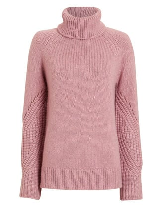 Demi Wool & Alpaca-Blend Turtleneck, BLUSH, hi-res