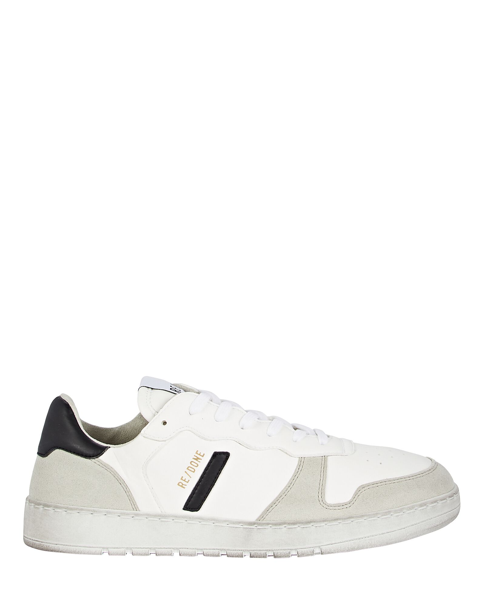 80s Sustainable Basketball Sneakers, WHITE, hi-res