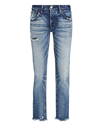 Kelley Mid-Rise Tapered Jeans, MEDIUM WASH DENIM, hi-res
