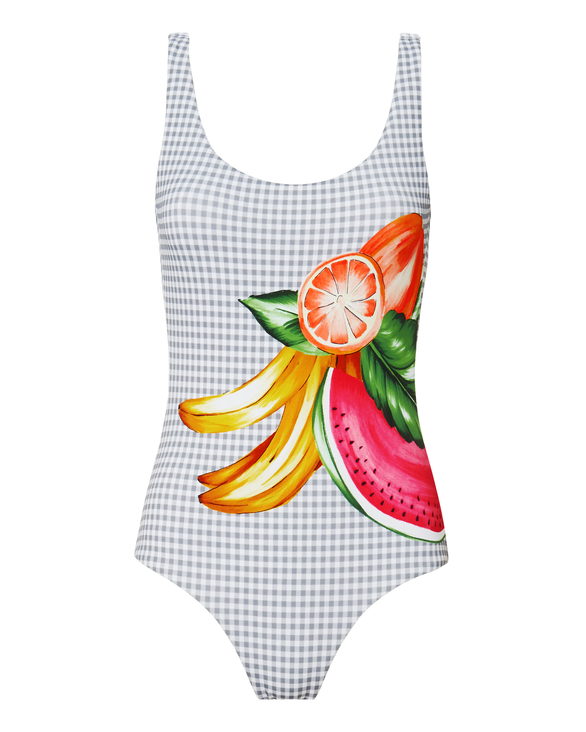 Kelly Fruit Gingham One Piece Swimsuit, MULTI, hi-res