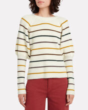 Keane Puff Sleeve Striped Sweater, MULTI, hi-res