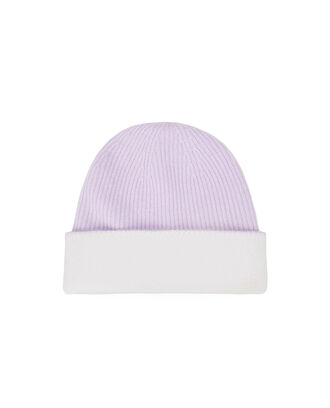 Reversible Beanie, LIGHT PURPLE/IVORY, hi-res
