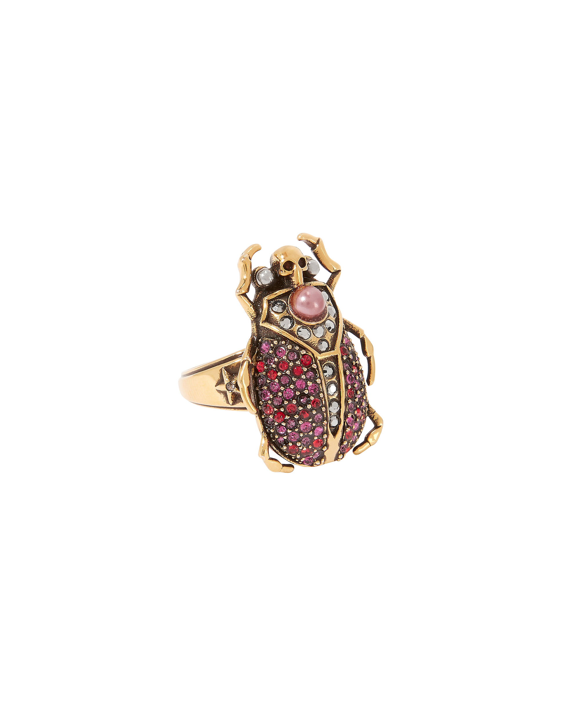 Beetle Ring, RED-DRK, hi-res