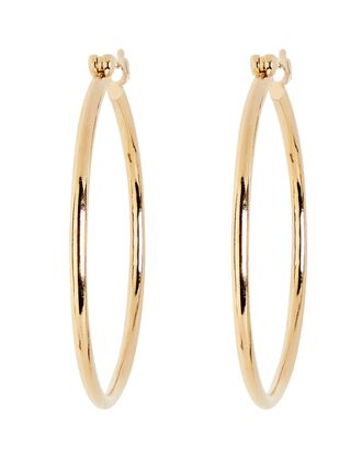 Bailey Thin Hoop Earrings, GOLD, hi-res