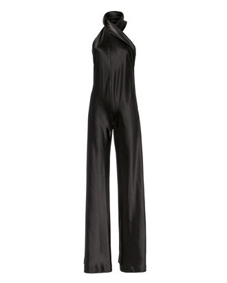 Asymmetric Sash Jumpsuit, BLACK, hi-res