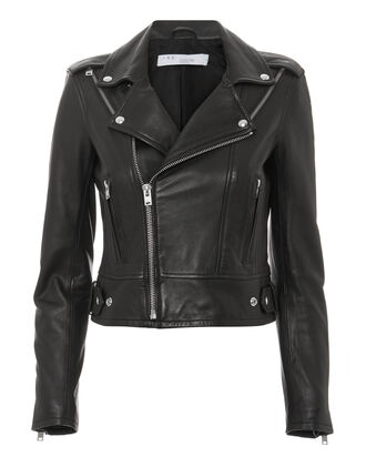 Quinn Leather Jacket, BLACK, hi-res
