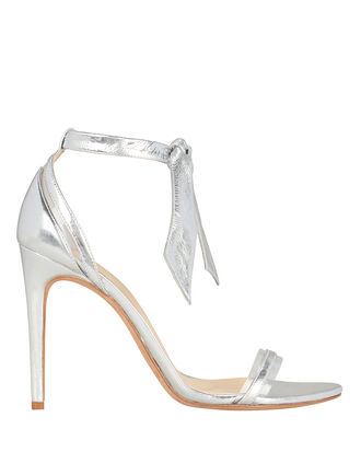 Clarita PVC Silver Leather Sandals, SILVER, hi-res