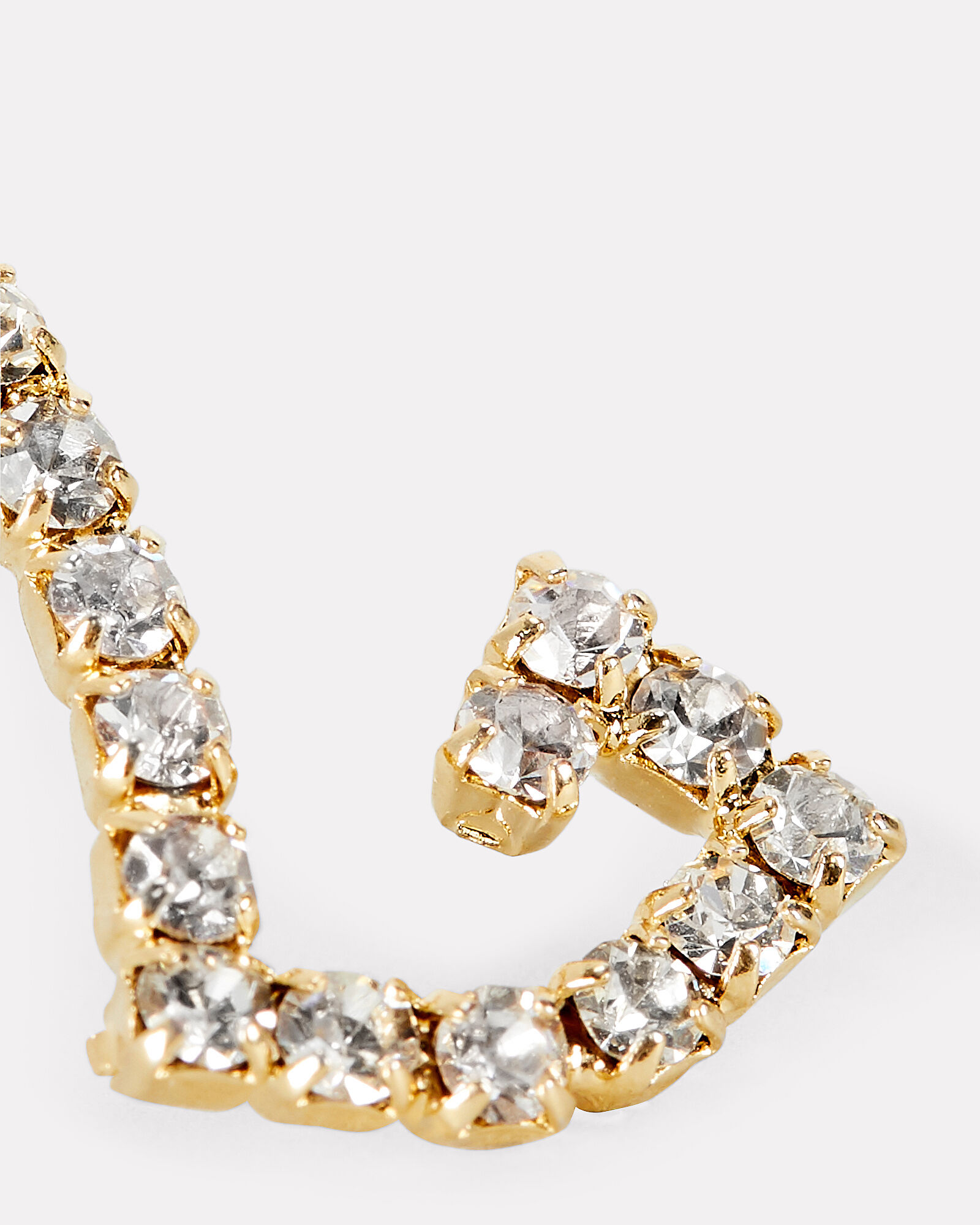 L Lettere Crystal Initial Earring, GOLD, hi-res