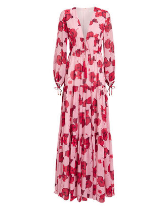 Freya Hibiscus Gown, PINK/FLORAL, hi-res
