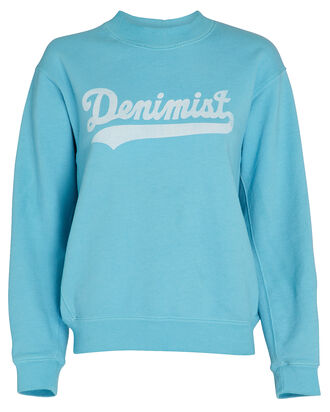 Logo Cotton Terry Sweatshirt, LIGHT BLUE, hi-res