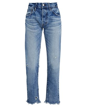 Keller Mid-Rise Tapered Jeans, MEDIUM WASH DENIM, hi-res