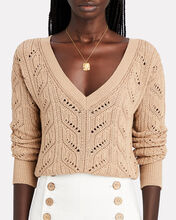 Norma Cropped Cotton Sweater, , hi-res