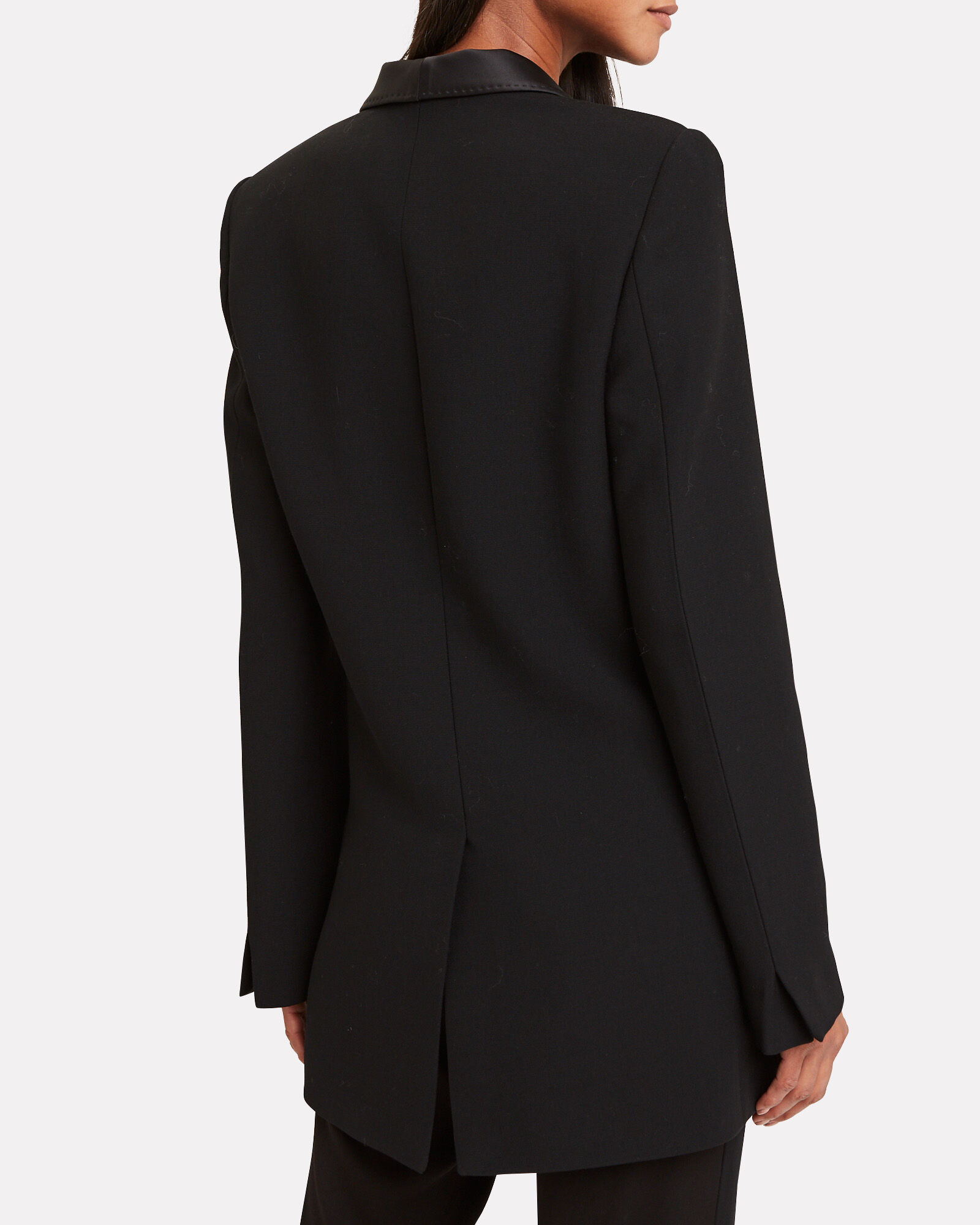 Shawl Collar Suiting Blazer, BLACK, hi-res