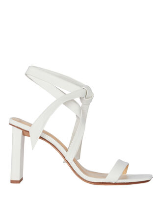Katie 85 Leather Sandals, WHITE, hi-res