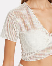 Sophie Mesh Crop Top, WHITE, hi-res
