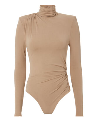 Turtleneck Bodysuit, BEIGE, hi-res