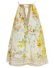 Embellished Floral Silk Camisole, IVORY/YELLOW, hi-res