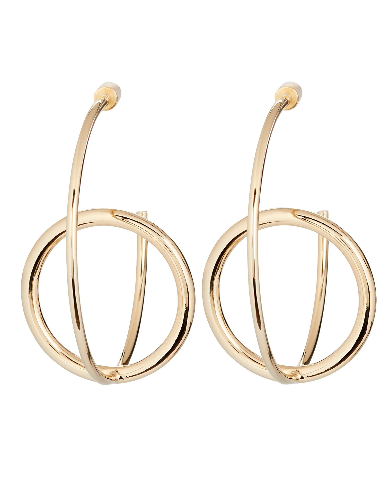 Ana Interlocking Orbit Hoop Earrings, GOLD, hi-res