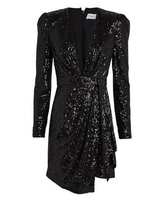 Mana Sequin-Embellished Mini Dress, BLACK, hi-res
