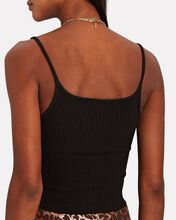 Primary Rib Cropped Harness Tank Top, BLACK, hi-res