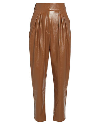 Tanner Vegan Leather Pants, BEIGE, hi-res