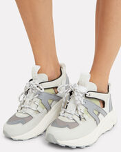 Brooklyn Low-Top Chunky Sneakers, WHITE/Silver, hi-res
