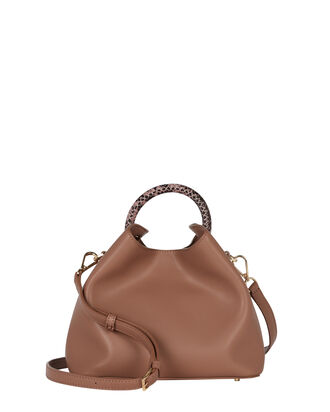 Baozi Mini Leather Tote, TAUPE, hi-res