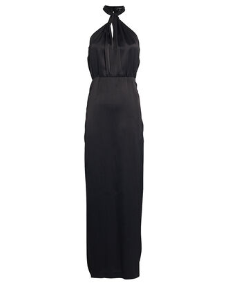 Claire Crepe Gown, BLACK, hi-res