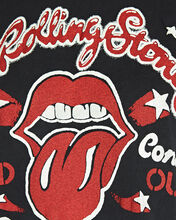 Rolling Stones Cropped T-Shirt, BLACK, hi-res