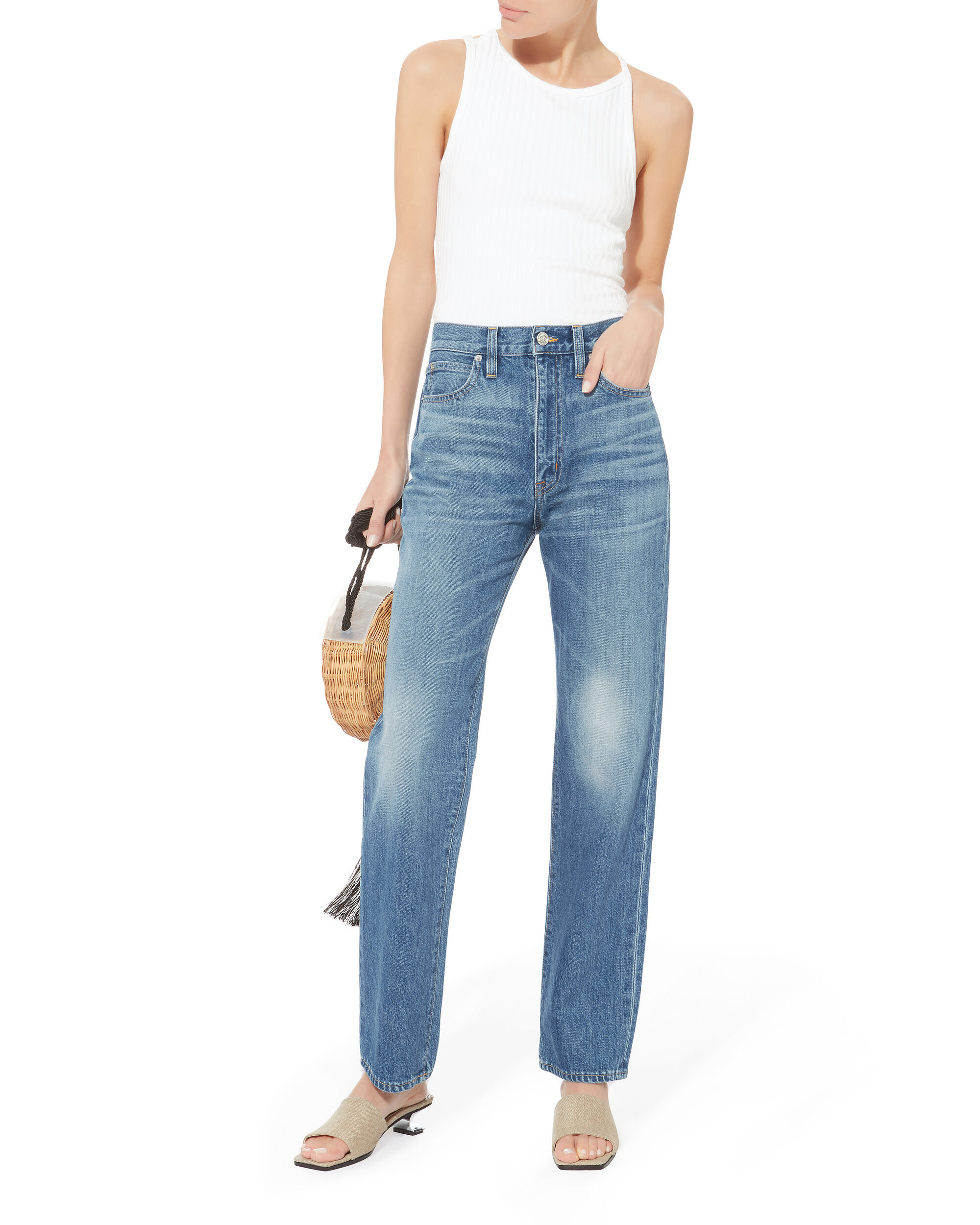 London Super High Straight Jeans, DENIM-LT, hi-res