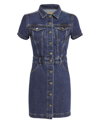 Max Denim Shirtdress, DARK BLUE DENIM, hi-res