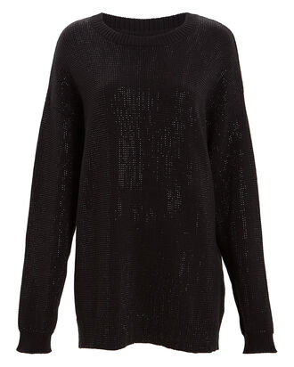 Celeste Mini Sweater Dress, BLACK, hi-res