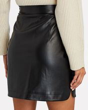 Faux Leather Mini Skirt, BLACK, hi-res