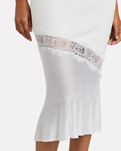 Lace-Trimmed Knit Dress, WHITE, hi-res
