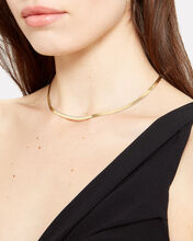 Herringbone 18k Vermeil Necklace, GOLD, hi-res