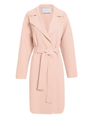 Blush Belted Cocoon Coat, BLUSH, hi-res